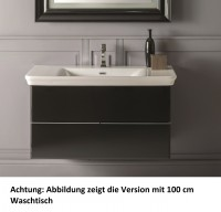 Globo Relais Waschtischunterschrank, 2 Schubladen, B:93, T:49, H:49cm, MS100BC, weiss glänzend
