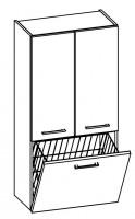 Artiqua COLLECTION 415 Midischrank B:600mm 2 Türen 1 Wäschekippe