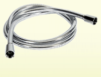 Neuesbad Kunststoff Brauseschlauch Luxus 200 cm, geriffelte Optik, beidseitiger Drehwirbel