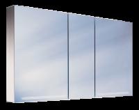 Schneider Spiegelschrank Graceline 130/3/FL, 1x54W+1x28W 1300x700x120 alueloxiert, 116.130.02.50