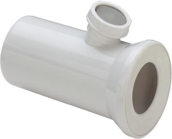 WC Anschlussstutzen 3815.2 in 250x50mm Kunststoff weiss 119645
