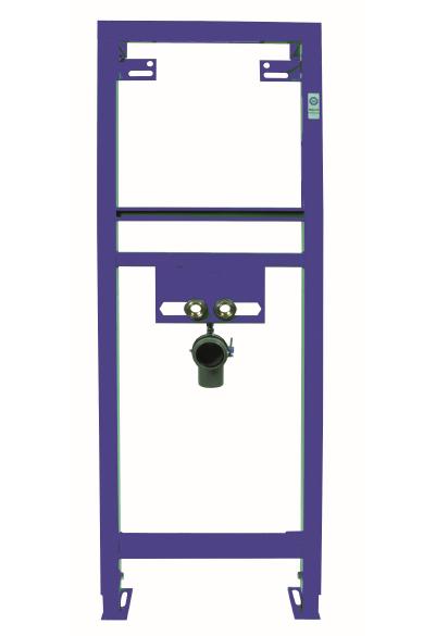 Neuesbad Waschtisch Vorwand-Element, B:410, H:1180mm, blau, pulverbeschitet