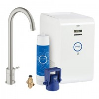 Grohe Blue Mono Pure Cool Starter Kit, 31384 für BWT-Filter supersteel