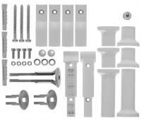 Kermi Befestigungsset Raumteiler Basic-50, sichtbare Teile weiß