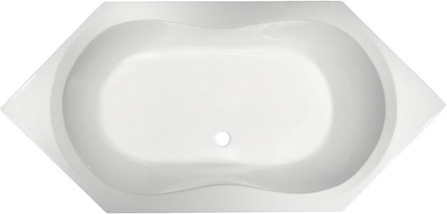 Sechseck-Badewanne Aqua 1900mm weiss K621601