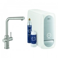 Grohe Blue Home Starter Kit 31539 auszb. Mousseur Bluetooth/WIFI L-Asl.supersteel, 31539DC0