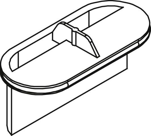 Kermi BC Geruchsverschluss Ablauf DN40 für Ablauf Line grau, 6037019