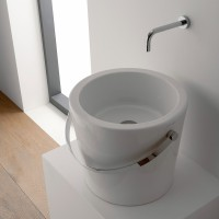 Scarabeo Bucket Aufsatzwaschbecken Ø 30 cm, weiss, 8801
