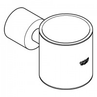 Grohe Glashalter Atrio 40304 hard graphite gebürstet, 40304AL3
