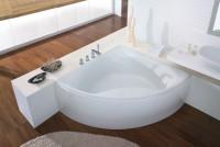 Hoesch Badewanne Squadra Eck 1500 mit angeformter