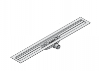 I-DRAIN Korpus Linear 72 mm, 100cm,1Siphon waagr.DN50,mit Abdichtg