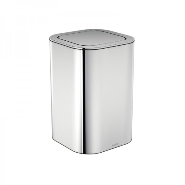 Cosmic Lineb+ Abfallbehälter 20,5x20,5x30cm, Edelstahl Glänzend, 2690202