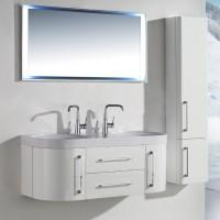 Neuesbad 3000 Badmöbelset 120 cm Breite, inklusive Waschtisch, Unterschrank und Spiegel