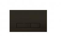 Oli Betätigungsplatte Narrow Schwarz Soft-Touch, 2-Mengen Spülung,Tiefe 6.5Mm