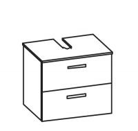 ARTIQUA 400 Universalwaschtischunterschrank mit 2 Auzügen, B: 60,4 H: 49,2 T: 38,3 cm