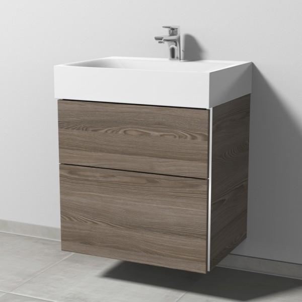 Sanipa 3way Waschtischunterschrank mit Auszügen BR45514, Pinie-Grau