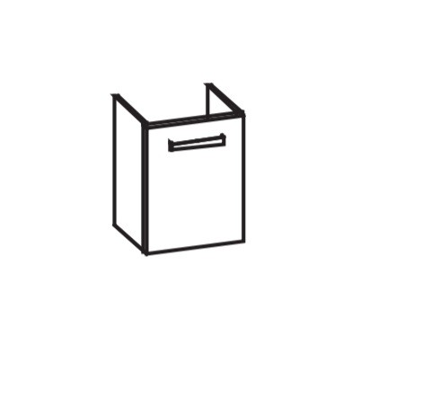 Artiqua 411 Waschtischunterschrank für ME by Starck 072343, Sangallo Grau quer, 411-WUT-D70-L-7154-4