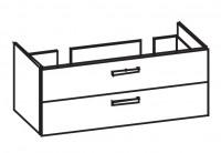 Artiqua 414 Waschtischunterschrank mit 2 Auszügen, passend zu Venticello 4111DL, 4111DJ, B:125, T:48