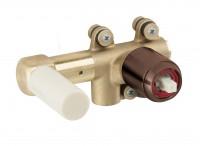 Herzbach Herzbach Logic-IX Uni WT-Wandbattatterie UP-Rohmontage für Edelstahl Copper, 21.731000.1.39