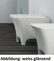 ArtCeram Cow Stand-Tiefspül-WC, B: 380, T: 520 mm, schwarz weiss Dekor
