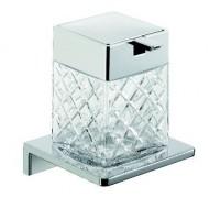 Emco Asio Seifenspender mit Kristallglas klar geschliffen, Version 2, chrom/chrom