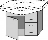Sanipa Waschtischunterschrank 2day, EG82001 Weiss-Matt, H:615, B:740, T:395 mm