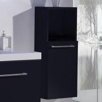 Neuesbad 4000 Seitenschrank 33 x 22 x 82 cm , Farbe schwarz hochglanz, Anschlag rechts