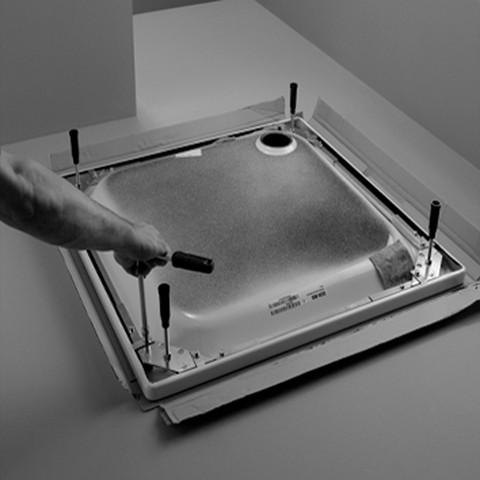 Bette Fußsystem für Duschwanne B50-3055, 110x90, B50-3055
