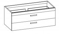 """Artiqua COLLECTION 414 Waschtischunterschrank zu """"Sentique"""" 5142E0 B:1400mm"""