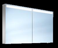 Schneider Spiegelschr. Arangaline/120/2/LED, 1x27W+1x26W LED 1200x700x120 alueloxiert, 160.120.02.50