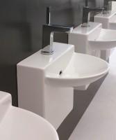 ArtCeram One Shot Wall Mini Waschtisch, B: 450, T: 380 mm, weiss glänzend