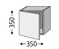 Sanipa Cubes mit Tür CT12001, Weiss-Matt