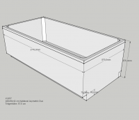 Neuesbad Wannenträger für Kaldewei Asymmetric Duo 180x90
