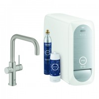 Grohe Blue Home Starter Kit 31456 Bluetooth/WIFI U-Ausl. supersteel, 31456DC1