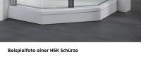 HSK Acryl Schürze 11 cm hoch, für HSK Viertelkreis Duschwanne 80 x 80 cm
