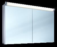 Schneider Spiegelschr. Paliline/120/2/LED, 1x27W+1x26W 1200x760x120 alueloxiert, 159.120.02.50