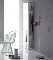 Bette Lux Shape Standspiegel weiß 60x24,4x190 cm Holz Eiche Creme