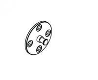 HANSGROHE 98673000 Wandflasch Showerpipe chrom Ersatzteil