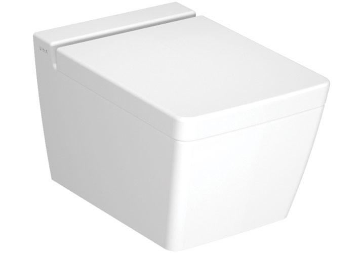 Bad Wand-Tiefspül-WC T4 VitraFlush, weiß, ohne Spülrand (rimless), 5743B003-0075 7743B003-0075
