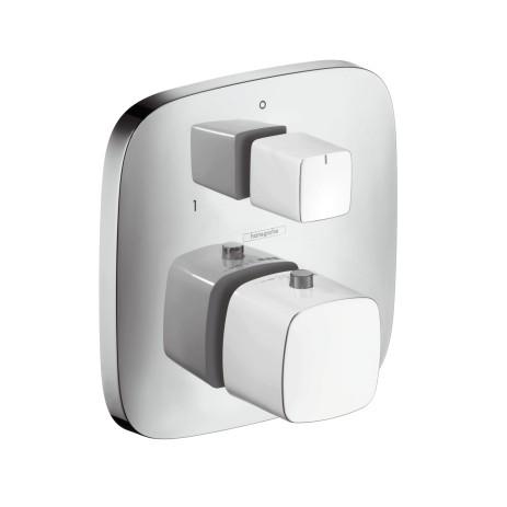 Hansgrohe Thermostat UP PuraVida F-Set weiss/chrom m.Absperr-und Umstellventil, 15771400