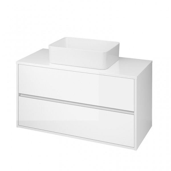Neuesbad Serie 300 Waschtischunterschrank, B:998, T:450, H:530mm, weiss glänzend Lack
