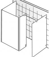 HSK Walk in Atelier Pur AP.73 1 Glaselement + 1 Seitenwand + 1 Seintenteil + freistehende Sieitenwan