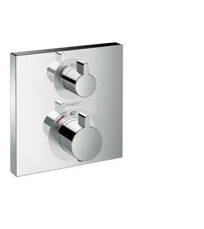 Hansgrohe Thermostat Unterputz Ecostat Square Fertigset 2 Verbraucher chrom, 15714000