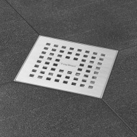 "Aqua 15x15 cm, ""Abdeckung Edelstahl , gebürstet"", MSI3 senkrecht DN 50"