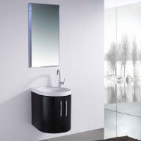 Neuesbad 3000 Badmöbelset 48 cm Breite, inklusive Waschtisch, Unterschrank und Spiegel