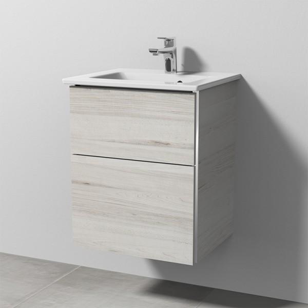 Sanipa 3way Keramik-Set Venticello inkl. Keramik-Waschtisch und Waschtischunterbau mit 2 Auszügen, L