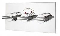 IB Love Me Unterputz Thermostatarmatur mit 2 Ventilen, inklusive Einbaukörper, horizontale Version