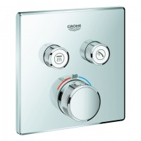 Grohe Thermostat Grohtherm SmartControl 29124 eckig FMS 2 Absperrventile chrom, 29124000
