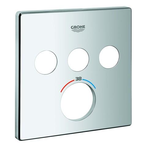GROHE Rosette 49042 für SmartControl UP-THM eckig mit 3 ASV chrom, 49042000