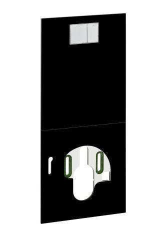 Geberit AquaClean Designplatte für WC Komplettanlage an Unterputz-Spülkasten Glas weiß 115325SF1